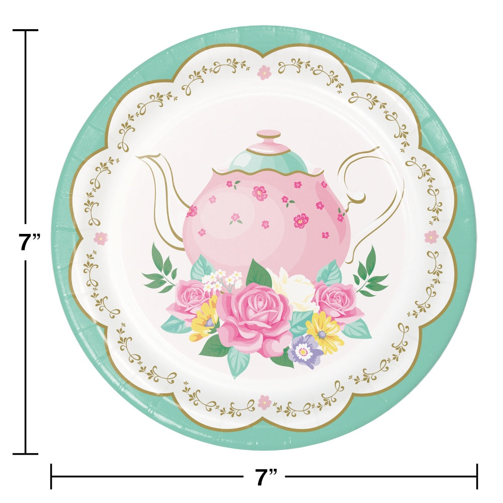 PLT7 SS 12/8CT FLORAL TEA PARTY