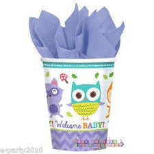 Woodland Welcome Paper Cups 9Oz, 8Pcs