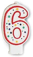 CAN 6/1CT POLKA DOTS NUMERAL 6