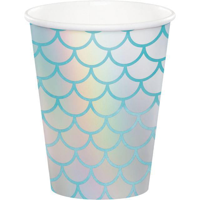 Hot/Cold Cups 9Oz., Foil 9Cup 12/8Ct Mermaid Shine