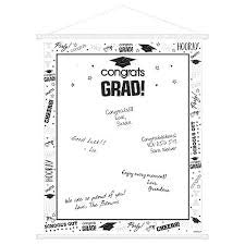 Graduation White & Black Sign In Scroll