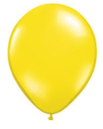 Balloons: Solid Colour Latex Balloons: Yellow