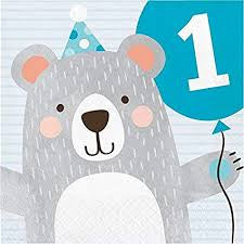 LN 12/16CT 2P BD 1ST BIRTHDAY BEAR [336060]