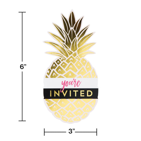 INV PSCD 6/8CT FOIL PINEAPPLE WEDDING