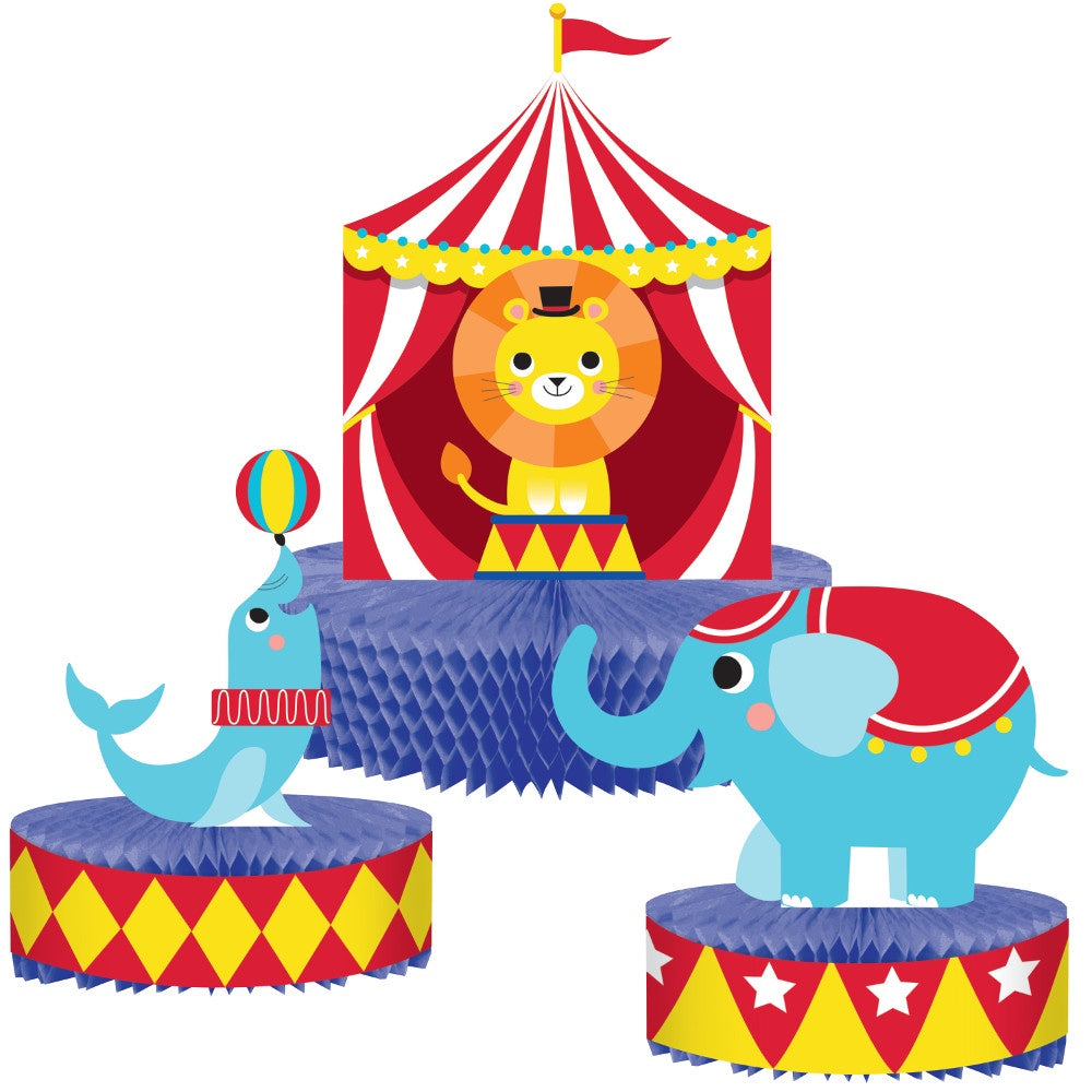 Centerpiece Hc Shaped Cp Hc 6/1Ct Circus Party