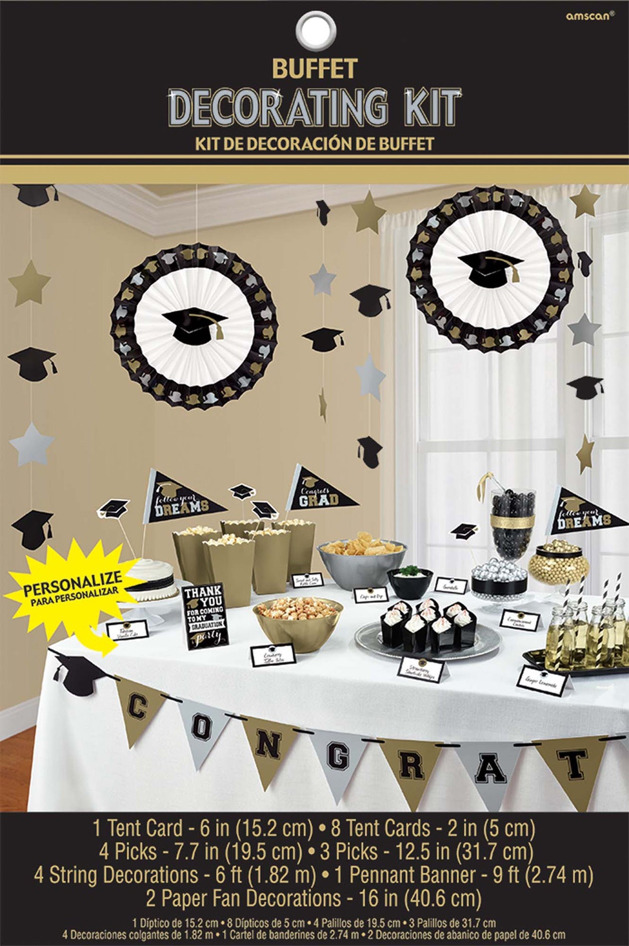 Grad Grand Candy Buffet Decorating Kit