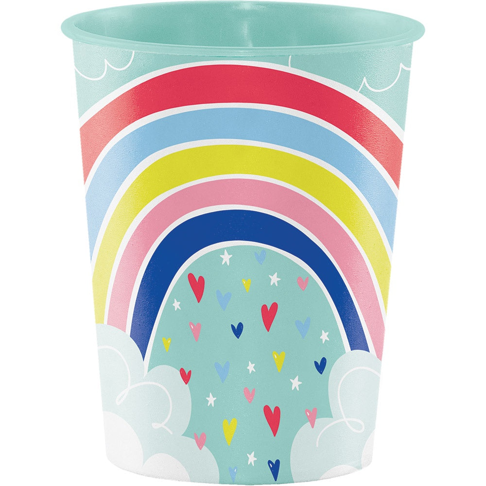 Plastic Keepsake Cup 16 Oz. 16Tmblr Iml Pl 12/1Ct Over The Rainbow