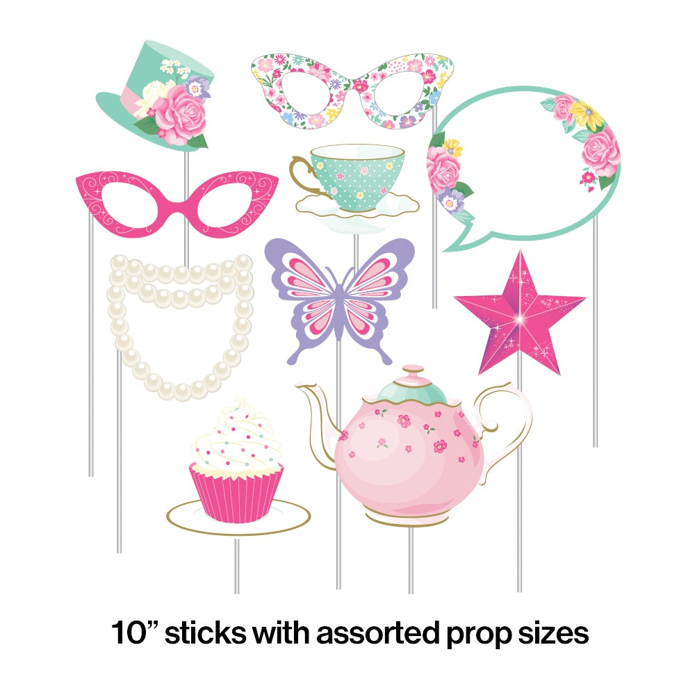 PHOTO PROPS 6/10CT FLORAL TEA PARTY