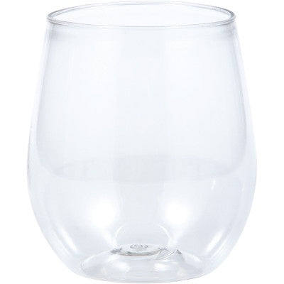 STEMLESS 14OZ 6/4CT WINE CLEAR