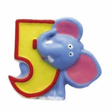 Safari Number Candle 5