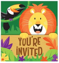 Invitation Gatefold Inv Gtfld Dc 6/8Ct Jungle Safari