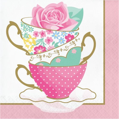 LN 12/16CT 2P FLORAL TEA PARTY TEACUP
