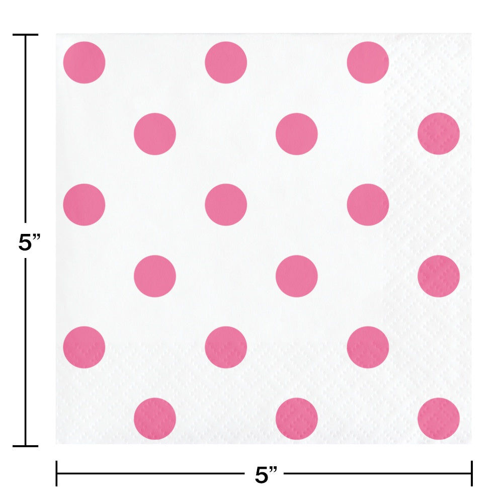 BN 12/16CT 2P DOTS & STRIPES CANDY PINK BKF