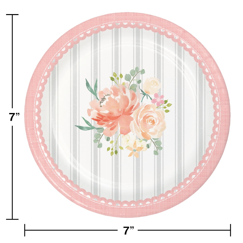 PLT7 SS 12/8CT FARMHOUSE FLORAL