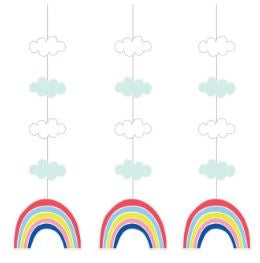 Hanging Cutouts Co Hng 12/3Ct Over The Rainbow