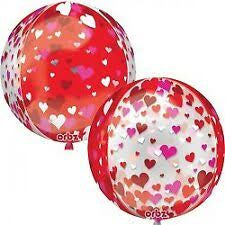 Floating Hearts Orbz Foil Balloon 16In