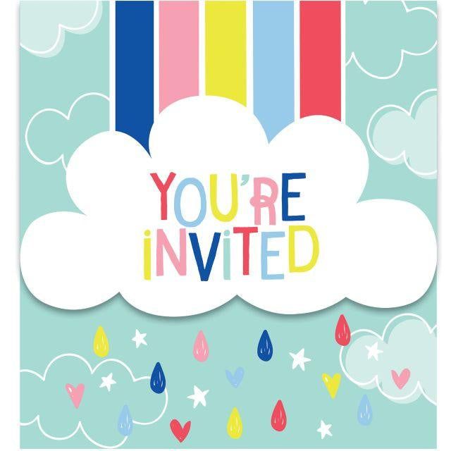 Invitation Gatefold Inv Gtfld Dc 6/8Ct Over The Rainbow