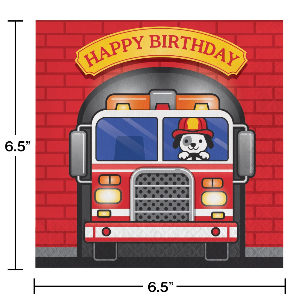LN 12/16CT 2P FLAMING FIRE TRUCK HBD