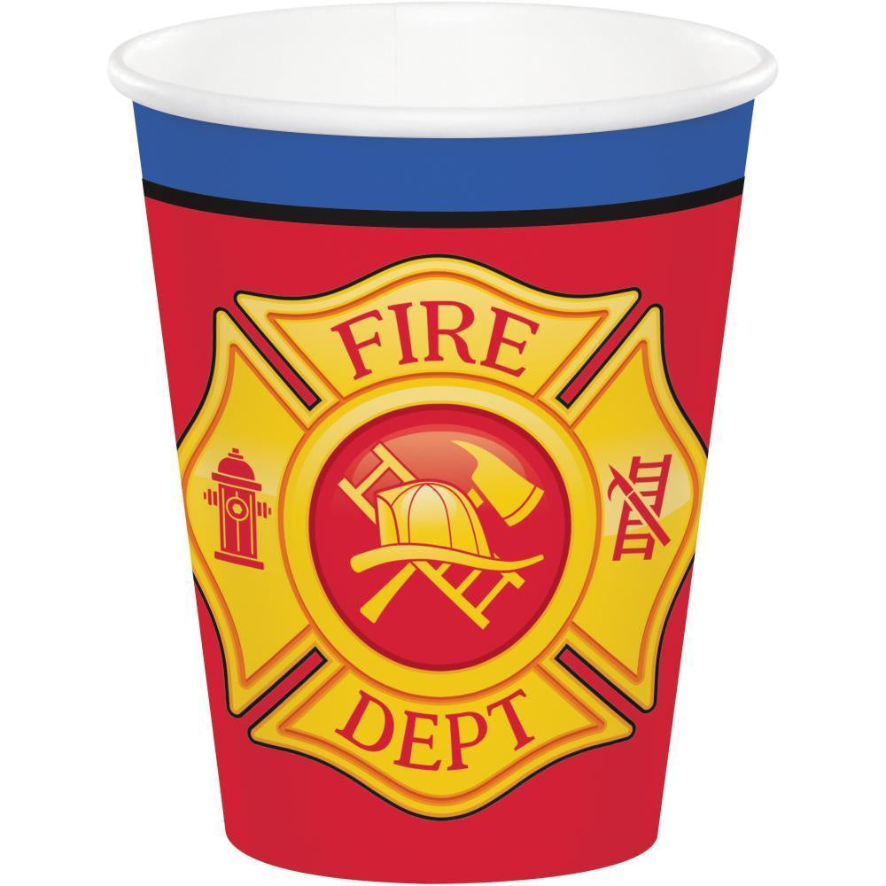 9CUP 12/8CT FLAMING FIRE TRUCK [331503]