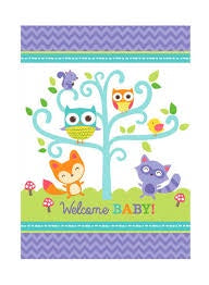 Woodland Welcome Paper Tablecover