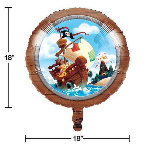"BLN MET 10/1CT 18"" PIRATE TREASURE"