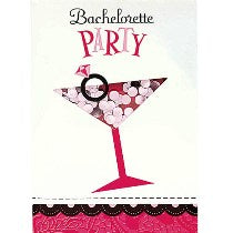 Bachelorette Party Shaker Invitation Cards