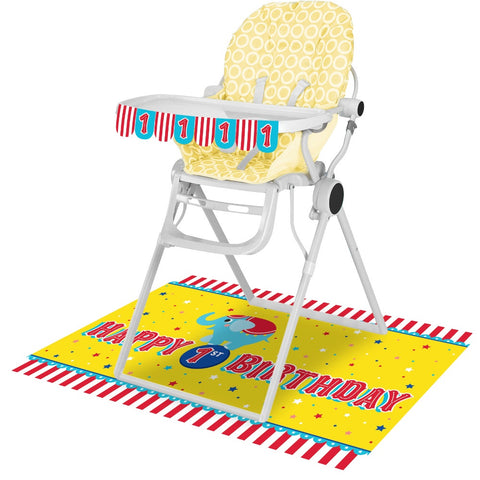 High Chair Kit High Chair Kit 6/1Ct Circus Party