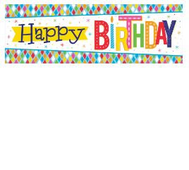 Giant Party Banner Bnr Gnt Pty 6/1Ct Bright Birthday
