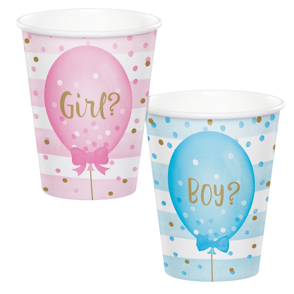 Hot/Cold Cups 9Oz. 9Cup 12/8Ct Gender Reveal Balloons