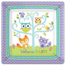 Woodland Welcome Square Plates 10In, 8P