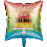 "BLN MET 10/1CT 18"" HOPPIN' BIRTHDAY CAKE"