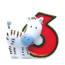 Safari Number Candle 6