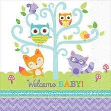 Woodland Welcome Napkins 16Pcs