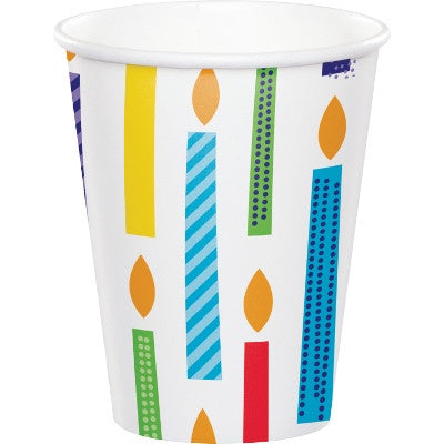 Hot/Cold Cups 9Oz. 9Cup 12/8Ct Bright Birthday