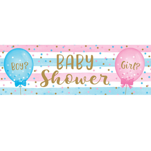 Giant Party Banner Bnr Gnt Pty 6/1Ct Gender Reveal Blns
