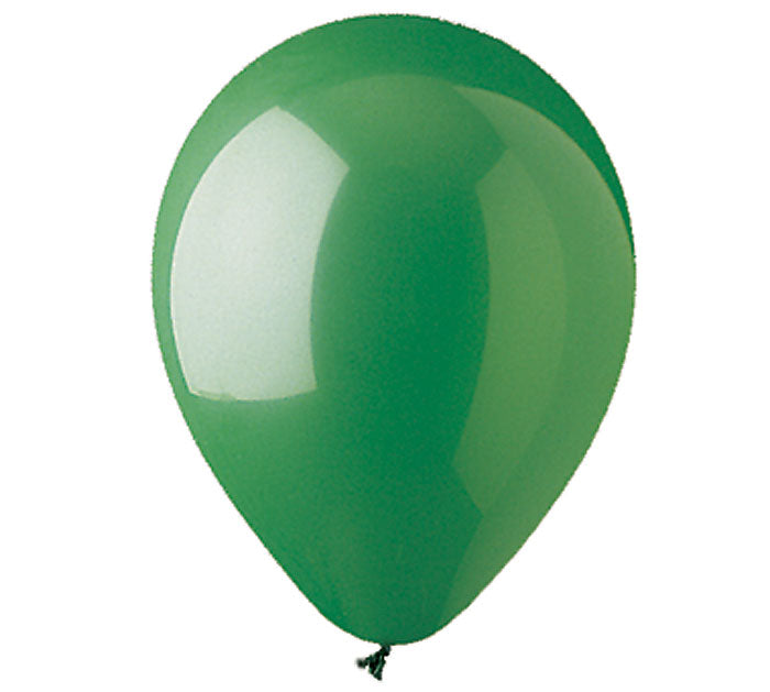 1 - Green, Lime, Kiwi, Emerald, Forest Green, Neon Green, Aqua Marine 11 and 12 inch latex balloons