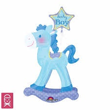 Rocking Horse Blue Airwalker Foil Ballo