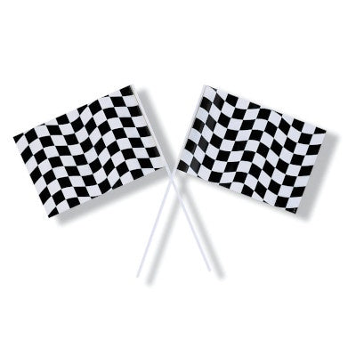 FLAG 48/1CT PL BLK&WHT