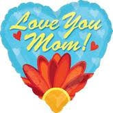 P32 Love You Mom Daisy Balloon 28In