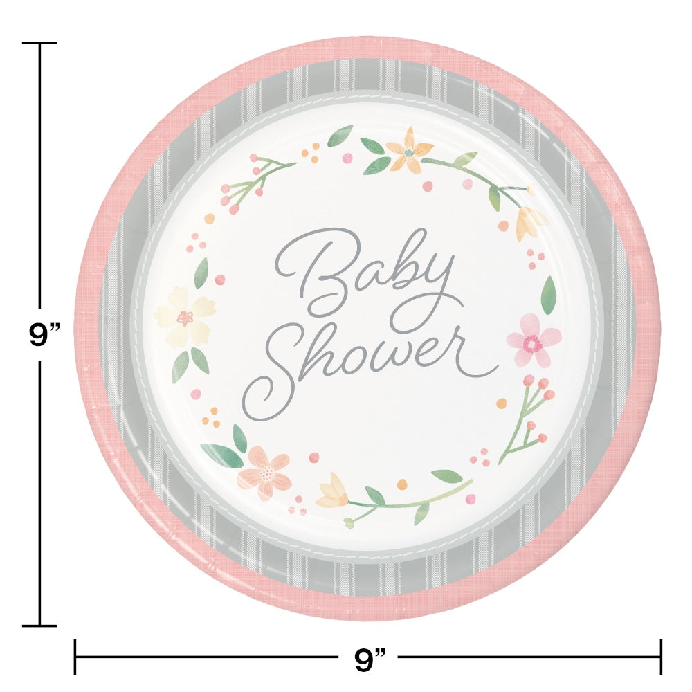 PLT9 SS 12/8CT FARMHOUSE FLORAL BABY