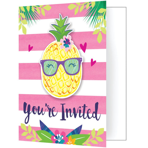 INV FLD W/ATT 6/8CT PINEAPPLE N FRIENDS