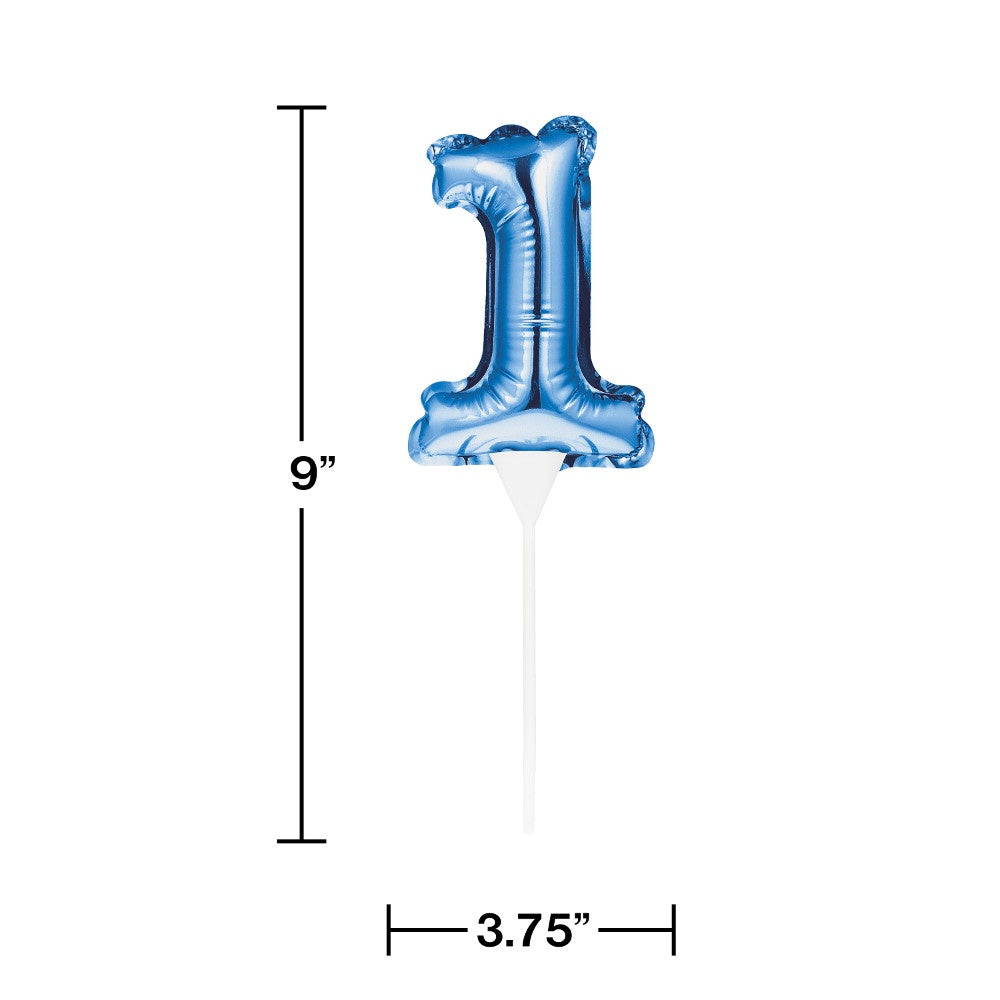 BLN CAKE TOPPER 12/1CT 1 BLUE [337534]