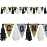 Graduation Tassel Garland - Black/Silver/Gold