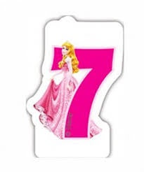 Princess Numeral Candle No. 7