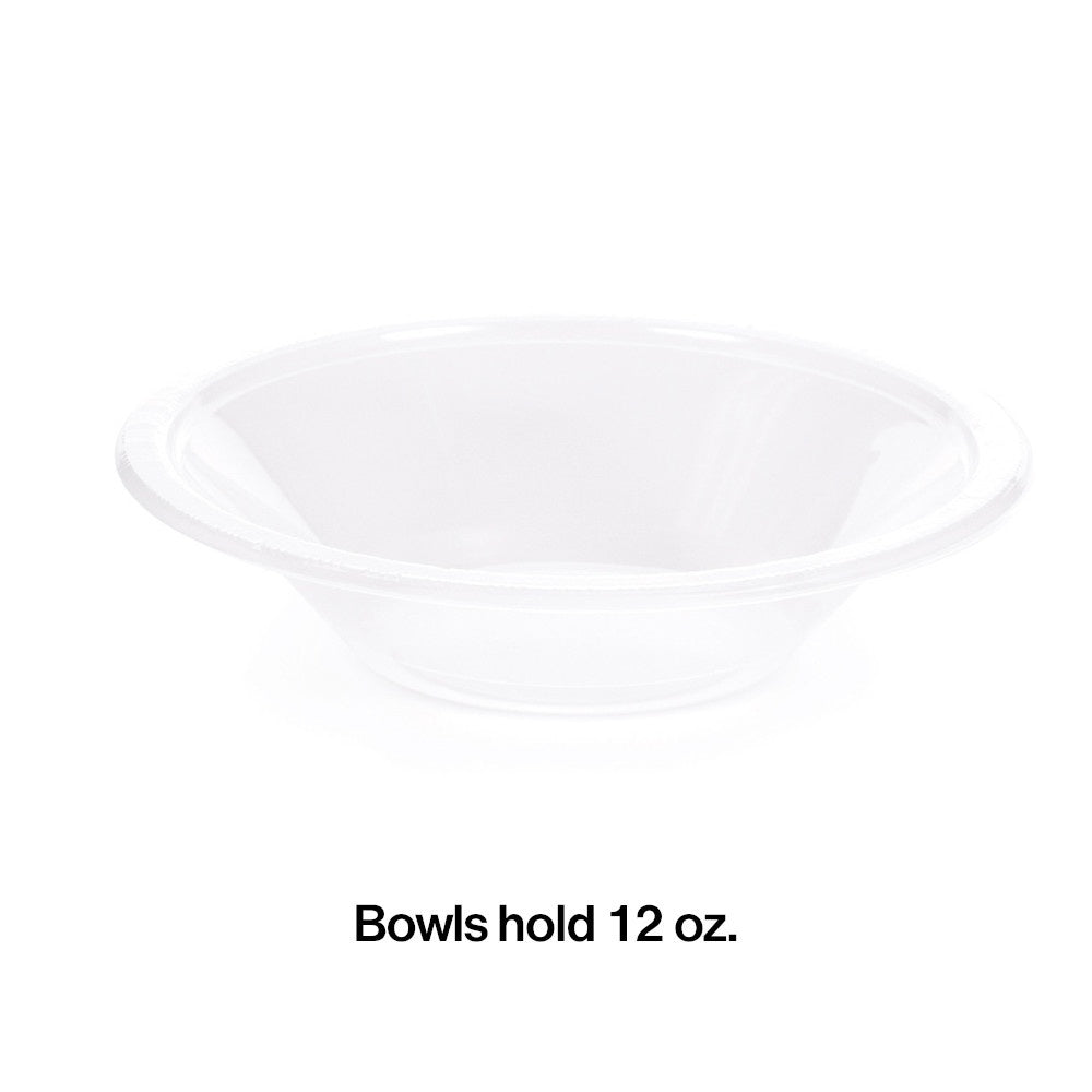 BOWL PL 12/20CT CLEAR