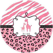 Sweet Safari Girl Baby Shower Plates 10