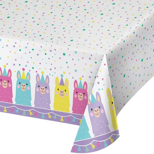 "Plastic Tablecover All Over Print, 54"" X 102"" Tc Pl Aop 6/1Ct 54X102 Llama Party 339587 6"