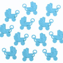 BLUE BABY SHOWER BABY CARRIAGE FAVORS