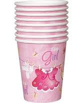 Sweet Safari Girl Baby Shower Cups 9Oz