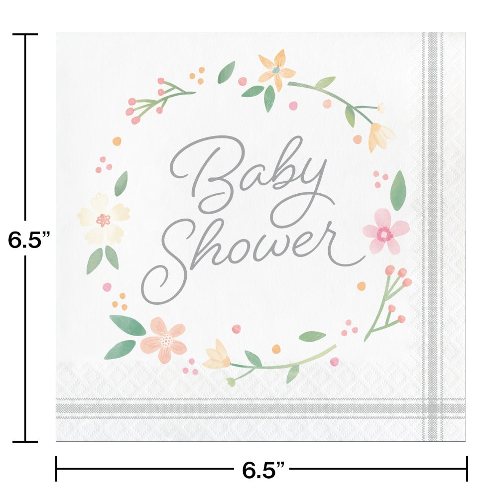 LN 12/16CT 2P FARMHOUSE FLORAL BABY SHWR